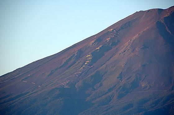 富士山と山小屋