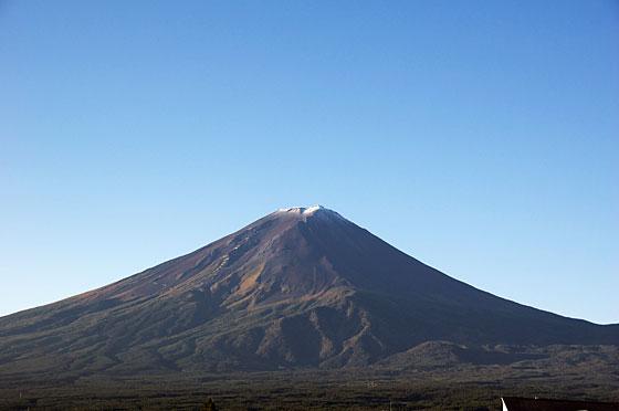 富士山 初冠雪