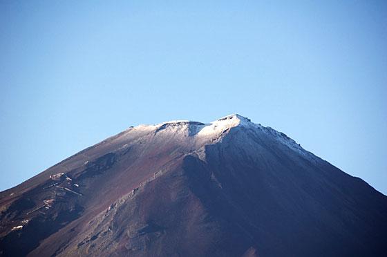 富士山頂の 冠雪