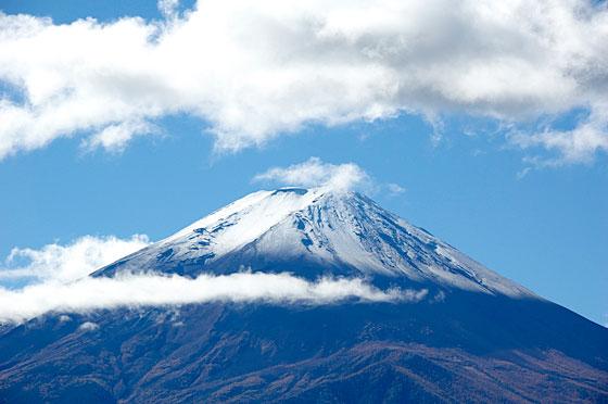 富士山冠雪