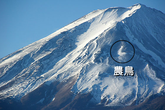 富士山と農鳥