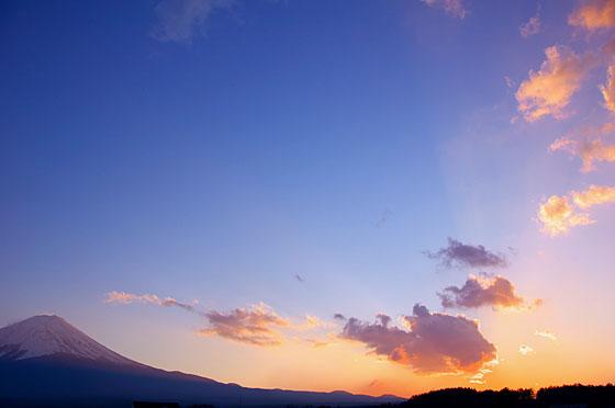 富士山と夕焼け