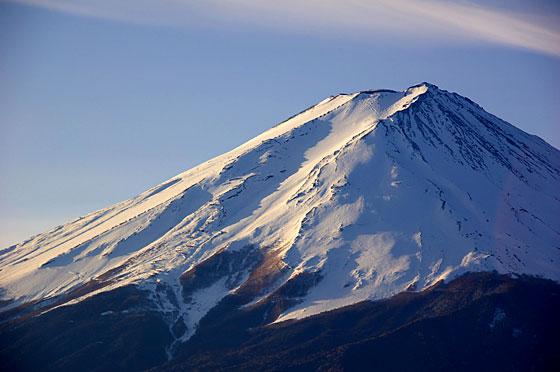 富士山頂の積雪