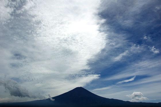 台風が通過した富士山