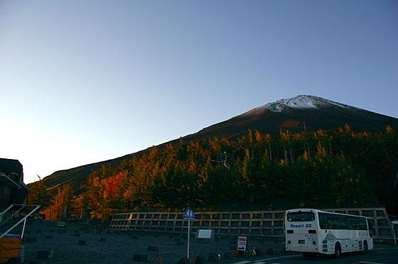 5合目から見た富士山