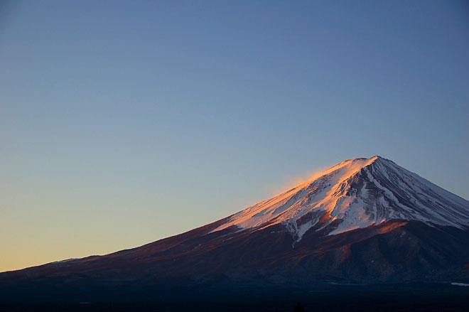 朝焼け富士山写真