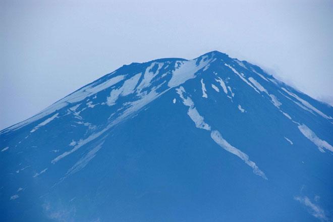 富士山頂付近の様子