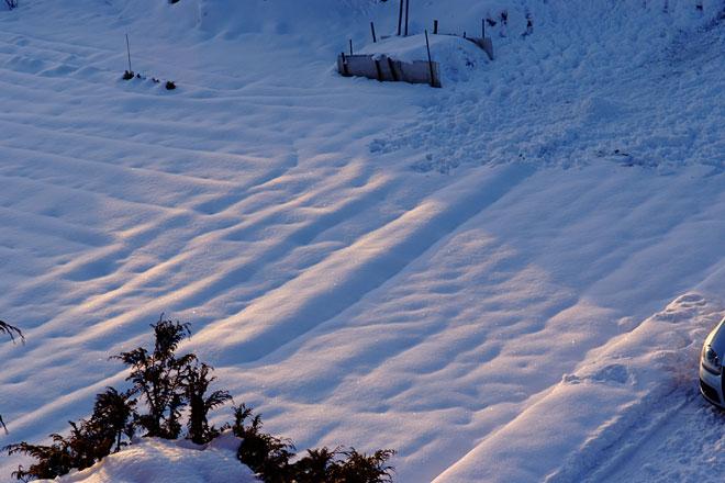 河口湖地方の積雪
