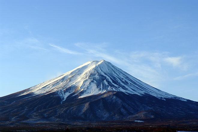 富士山の積雪