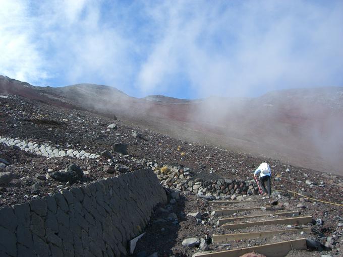 富士山登山途中