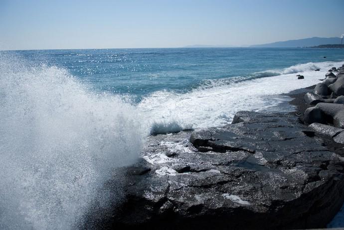 ふじのくに田子の浦みなと公園近くの海