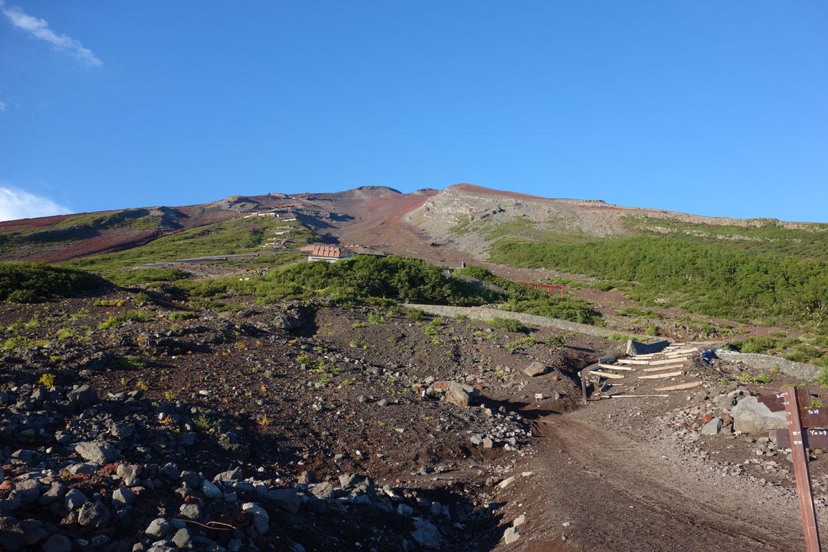 富士山6合目から見た山頂