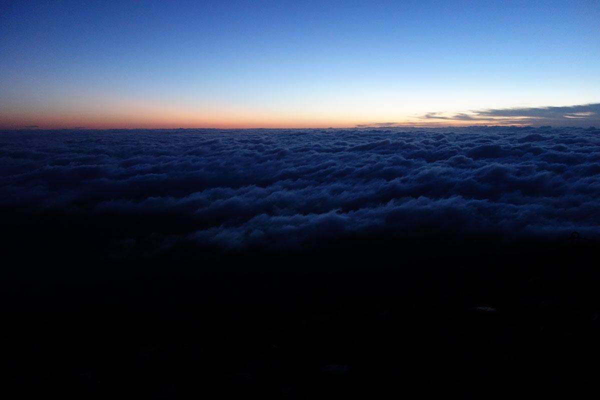 富士山から見る雲海