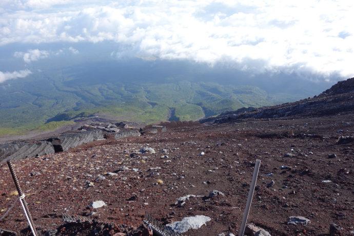 富士山3200mからの眺め