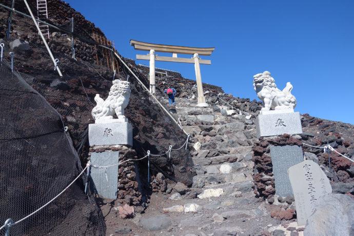 吉田口登山道 終点 富士山頂