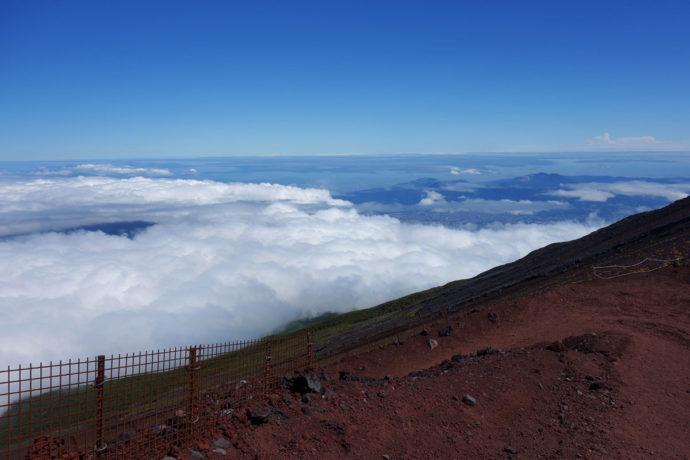 富士山から見た相模湾・東京湾