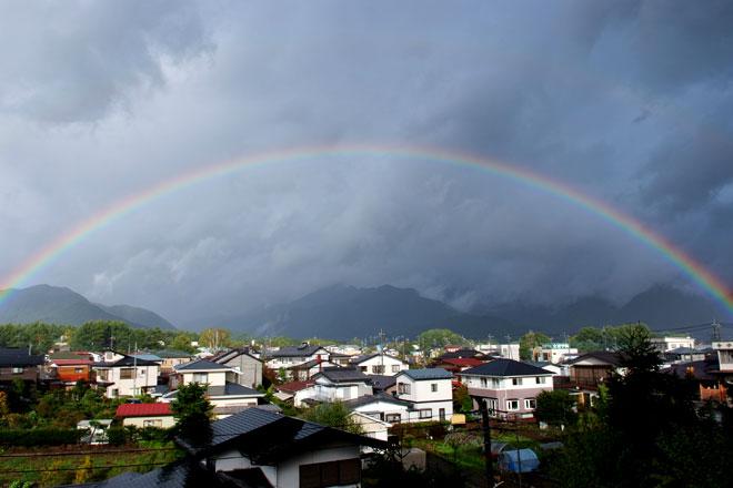 虹の見える景色